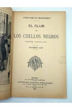 Muestra 2 de LA NOVELA DE AHORA 3ª EPOCA 101. EL CLUB DE LOS CUELLOS NEGROS III (Fortuné Du Boisgobey) Saturnino Calleja