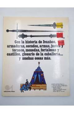 Contracubierta de CLÁSICOS JUVENILES ALTEA. IVANHOE (Sir Walter Scott / Christopher Bradbury) Altea 1980