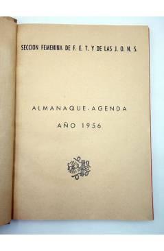 Muestra 1 de SECCIÓN FEMENINA DE LAS FET Y DE LAS JONS F.E.T. J.O.N.S.. ALMANAQUE AGENDA 1956 (No Acreditado) FET y de l