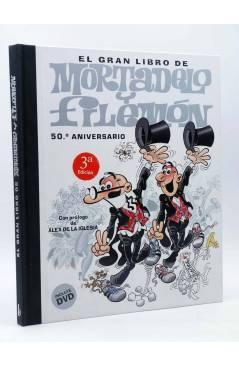 Cubierta de EL GRAN LIBRO DE MORTADELO Y FILEMÓN 50 ANIVERSARIO INCLUYE DVD (F. Ibáñez) B 2007
