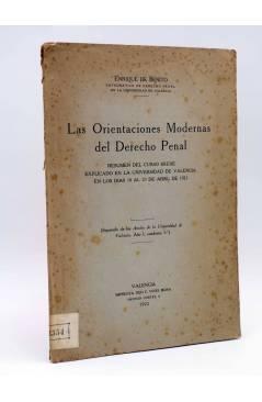 Cubierta de LAS ORIENTACIONES MODERNAS DEL DERECHO PENAL (Enrique De Benito) F. Vivés Mora 1922