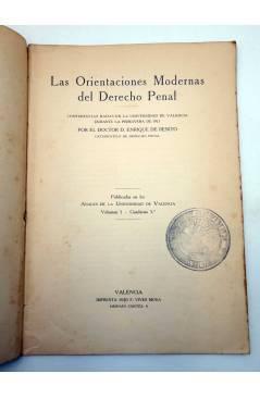 Muestra 2 de LAS ORIENTACIONES MODERNAS DEL DERECHO PENAL (Enrique De Benito) F. Vivés Mora 1922