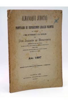 Cubierta de ALMANAQUE JUDICIAL Y PRONTUARIO DE DISPOSICIONES LEGALES VIGENTES (D. Joaquín De Benavente) Manuel Alufre 18