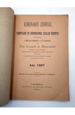 Muestra 1 de ALMANAQUE JUDICIAL Y PRONTUARIO DE DISPOSICIONES LEGALES VIGENTES (D. Joaquín De Benavente) Manuel Alufre 1