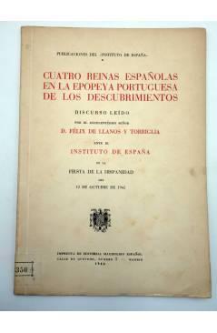Contracubierta de CUATRO REINAS ESPAÑOLAS EN LA EPOPEYA PORTUGUESA DE LOS DESCUBRIMIENTOS (Félix De Llanos) Magisterio E