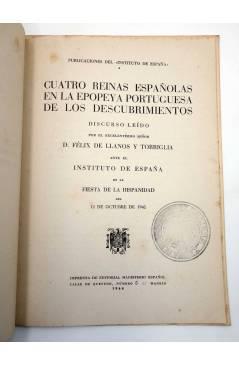 Muestra 2 de CUATRO REINAS ESPAÑOLAS EN LA EPOPEYA PORTUGUESA DE LOS DESCUBRIMIENTOS (Félix De Llanos) Magisterio Españo