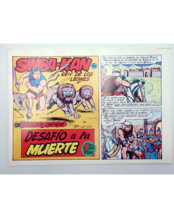 Cubierta de SIMBA KAN REY DE LOS LEONES 46. DESAFÍO A LA MUERTE (Martínez Osete) Comic MAM 1985. FACSÍMIL