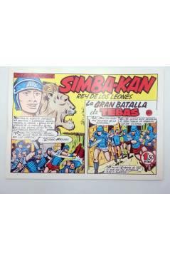 Cubierta de SIMBA KAN REY DE LOS LEONES 50. LA GRAN BATALLA DE TEBAS (Osete) Comic MAM 1985. FACSÍMIL