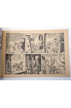 Contracubierta de SIMBA KAN REY DE LOS LEONES 50. LA GRAN BATALLA DE TEBAS (Osete) Comic MAM 1985. FACSÍMIL