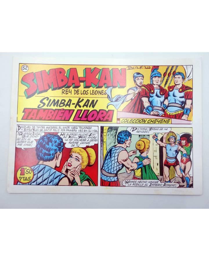 Cubierta de SIMBA KAN REY DE LOS LEONES 52. SIMBA KAN TAMBIÉN LLORA (Osete) Comic MAM 1985. FACSÍMIL
