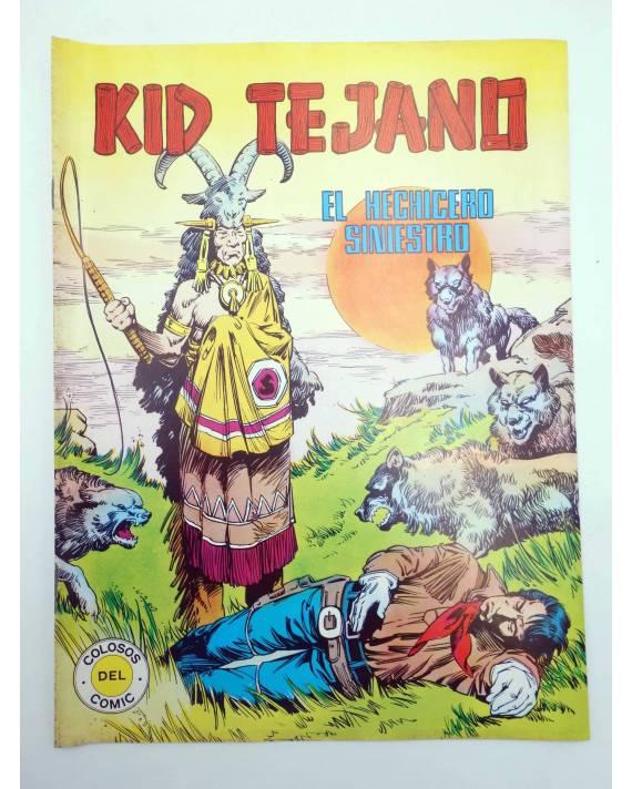 Cubierta de COLOSOS DEL COMIC 54. KID TEJANO 4. EL HECHICERO SINIESTRO (No Acreditado) Valenciana 1982