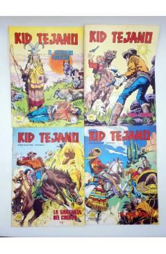 Contracubierta de COLOSOS DEL COMIC KID TEJANO. LOTE DE 24 NºS (No Acreditado) Valenciana 1982