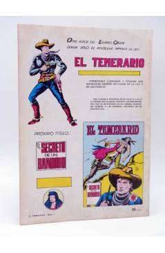 Contracubierta de COLOSOS DEL COMIC 206. EL TEMERARIO 1 (Gago) Valenciana 1981