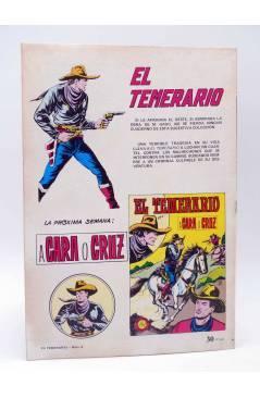 Contracubierta de COLOSOS DEL COMIC 209. EL TEMERARIO 4 RIÑA DE BANDIDOS (Gago) Valenciana 1981