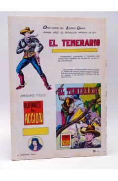 Contracubierta de COLOSOS DEL COMIC 217. EL TEMERARIO 9. AYUDA INESPERADA (Gago) Valenciana 1981