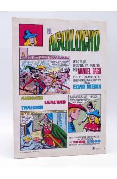 Contracubierta de COLOSOS DEL COMIC 220. EL TEMERARIO 10. RUFIANES EN ACCIÓN (Gago) Valenciana 1981