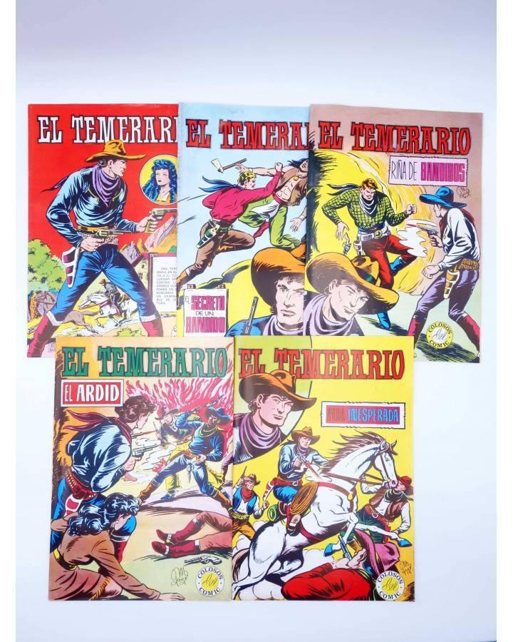 Cubierta de COLOSOS DEL COMIC. EL TEMERARIO 1 2 4 6 9. LOTE DE 5 (Gago) Valenciana 1981