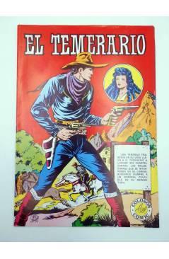 Contracubierta de COLOSOS DEL COMIC. EL TEMERARIO 1 2 4 6 9. LOTE DE 5 (Gago) Valenciana 1981