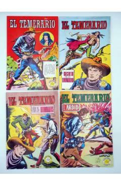 Contracubierta de COLOSOS DEL COMIC. EL TEMERARIO 1 2 4 6 8 9 10. LOTE DE 7 (Gago) Valenciana 1981