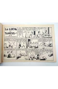Contracubierta de X3 X-3 Y SU PATRULLA SECRETA 1. EN LA CUEVA DEL TÁMESIS (José Grau) Comic Mam? 1985. FACSÍMIL
