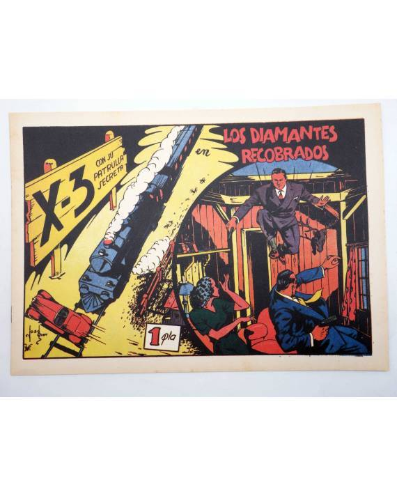 Cubierta de X3 X-3 Y SU PATRULLA SECRETA 3. EN LOS DIAMANTES RECOBRADOS (José Grau) Comic Mam? 1985. FACSÍMIL