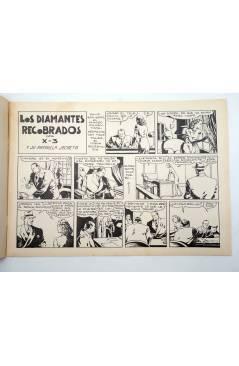 Contracubierta de X3 X-3 Y SU PATRULLA SECRETA 3. EN LOS DIAMANTES RECOBRADOS (José Grau) Comic Mam? 1985. FACSÍMIL