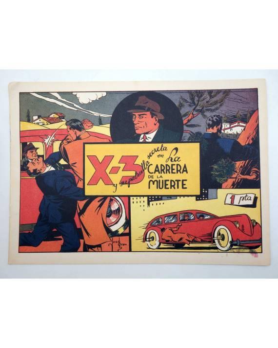 Cubierta de X3 X-3 Y SU PATRULLA SECRETA 4. EN LA CARRERA DE LA MUERTE (José Grau) Comic Mam? 1985. FACSÍMIL