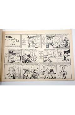 Contracubierta de KING EL PEQUEÑO POLICIA CON X3 X-3 Y SU PATRULLA SECRETA 11 (José Grau) Comic Mam? 1985. FACSÍMIL