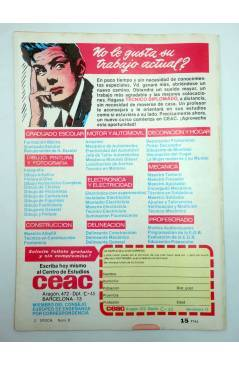 Contracubierta de ROBERTO ALCÁZAR Y PEDRÍN 2ª EPOCA 9. VUELVE GRAHAM (No Acreditado) Valenciana 1976