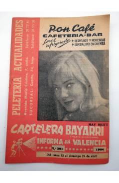 Cubierta de CARTELERA BAYARRI 381. MAY BRITT 1964. Valencia. 13 a 19 abril (Vvaa) Continental 1964
