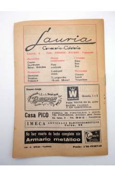 Contracubierta de CARTELERA BAYARRI 381. MAY BRITT 1964. Valencia. 13 a 19 abril (Vvaa) Continental 1964
