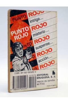 Contracubierta de PUNTO ROJO 1070. LÍNEA RECTA LA MUERTE (Clark Carrados) Bruguera 1982