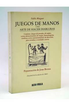 Cubierta de FACSIMIL JUEGOS DE MANOS O SEA ARTE DE HACER DIABLURAS (Pablo Minguet) Alta Fulla 1981