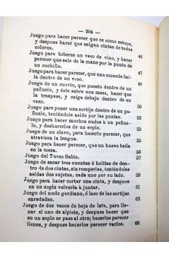 Muestra 2 de FACSIMIL JUEGOS DE MANOS O SEA ARTE DE HACER DIABLURAS (Pablo Minguet) Alta Fulla 1981