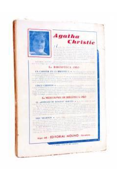 Contracubierta de BIBLIOTECA ORO (2ª SERIE) 195. El orgullo de Owemoor (Edward Woodward) Molino 1946