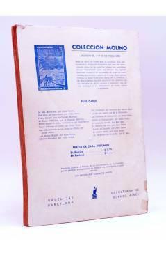Contracubierta de BIBLIOTECA ORO AMARILLA 49. CUARTO CRECIENTE (Valentine Williams) Molino 1939