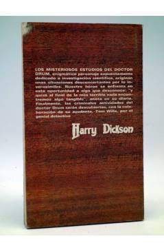 Contracubierta de HARRY DICKSON 11. LOS MISTERIOSOS ESTUDIOS DEL DOCTOR DRUM (Jean Ray) Júcar 1972