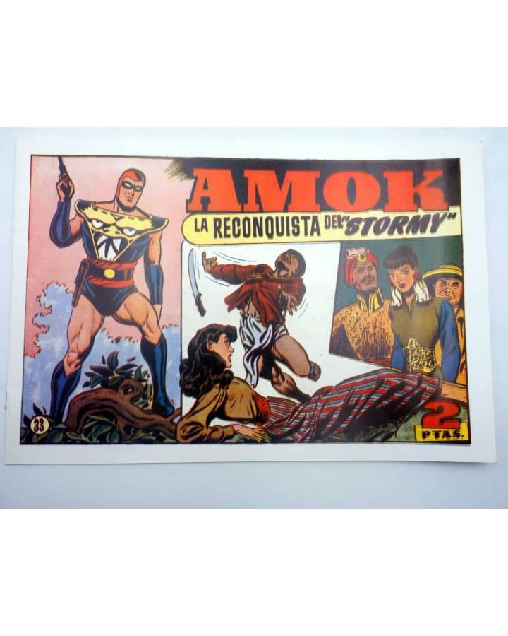 Cubierta de AMOK 33. LA RECONQUISTA DEL STORMY (No Acreditado) Hispano Americana 1981