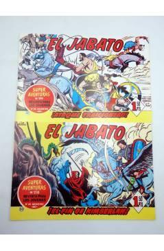 Contracubierta de EL JABATO 49 A 56. 8 NºS. REEDICIÓN FACSIMIL (No Acreditado) Bruguera 1981