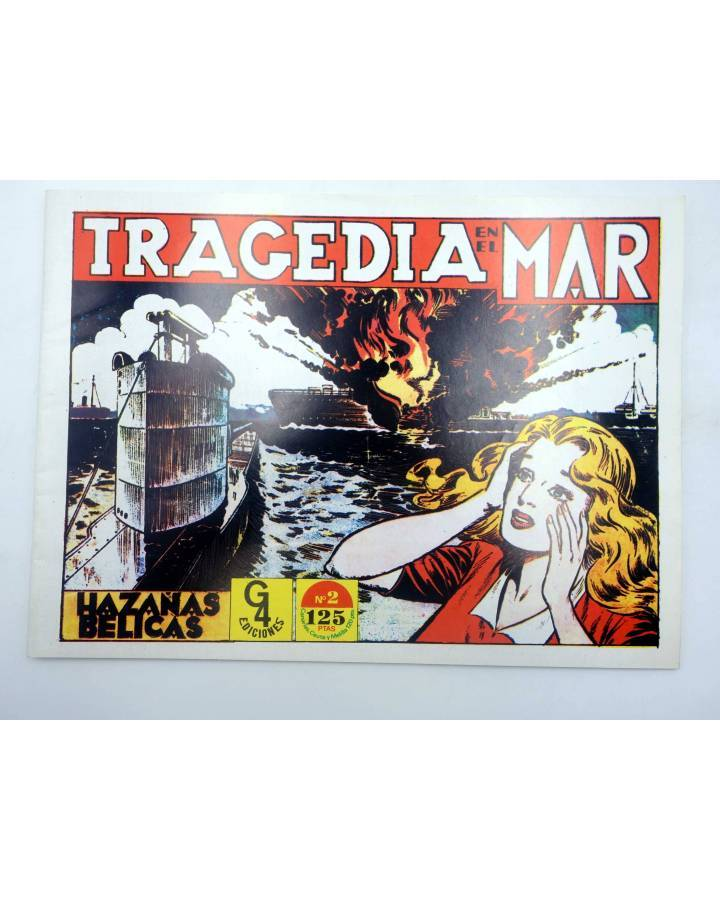 Cubierta de HAZAÑAS BÉLICAS 2. TRAGEDIA EN EL MAR (Boixcar) G4 1987