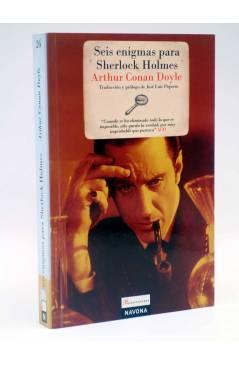 Cubierta de REENCUENTROS 26. SEIS ENIGMAS PARA SHERLOCK HOLMES (Arthur Conan Doyle) Navona 2009