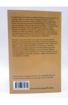 Contracubierta de REENCUENTROS 26. SEIS ENIGMAS PARA SHERLOCK HOLMES (Arthur Conan Doyle) Navona 2009