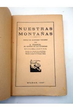Muestra 1 de BIBLIOTECA DE DEPORTES NUESTRAS MONTAÑAS (A. Ferrer – El Hombre De Las Cavernas) Espasa Calpe 1927