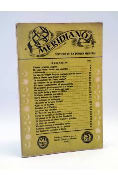 Cubierta de REVISTA MERIDIANO SÍNTESIS DE LA PRENSA MUNDIAÑ 1 (Vvaa) La Católica 1943