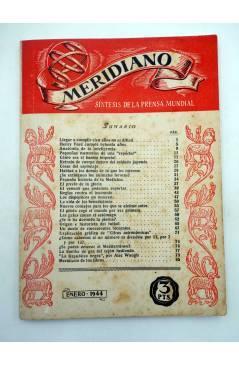 Contracubierta de REVISTA MERIDIANO SÍNTESIS DE LA PRENSA MUNDIAL. LOTE DE 7 (Vvaa) La Católica 1944