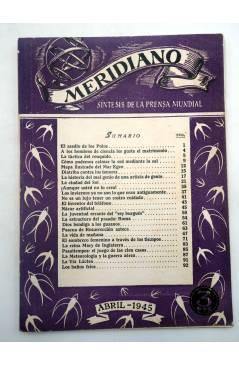 Muestra 2 de REVISTA MERIDIANO SÍNTESIS DE LA PRENSA MUNDIAL. LOTE DE 7 (Vvaa) La Católica 1944