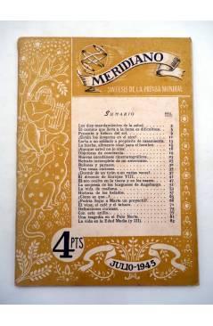 Muestra 5 de REVISTA MERIDIANO SÍNTESIS DE LA PRENSA MUNDIAL. LOTE DE 7 (Vvaa) La Católica 1944