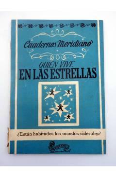 Contracubierta de CUADERNOS MERIDIANO 3. QUIEN VIVE EN LAS ESTRELLAS (Desiderius Papp) Saso 1946