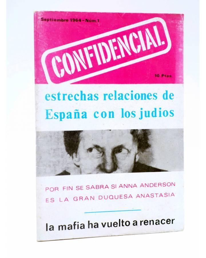 Cubierta de CONFIDENCIAL 1. REVISTA MENSUAL DE INFORMACIONES EXCLUSIVAS (Vvaa) No acreditada 1964