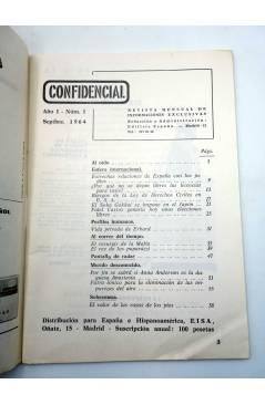 Muestra 1 de CONFIDENCIAL 1. REVISTA MENSUAL DE INFORMACIONES EXCLUSIVAS (Vvaa) No acreditada 1964